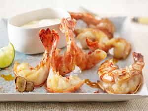 Knoblauch-Garnelen mit Chili-Meersalz Rezept