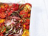 Knoblauch-Kräuter-Tomaten zu Huftsteak Rezept