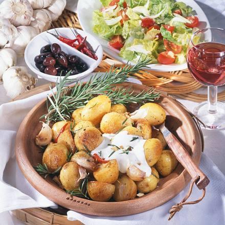 Knoblauch-Rosmarin-Kartoffeln Rezept
