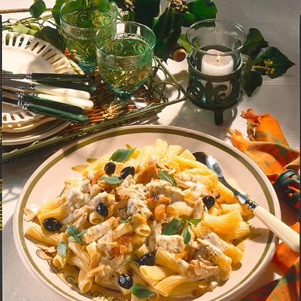 Knoblauch-Sahne-Tortiglioni  Rezept