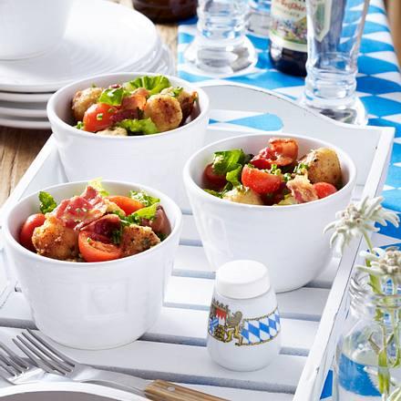 Knödel-Salat mit Speck Rezept