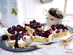 Knubberkirschkuchen mit Ricotta Rezept