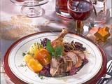 Knusper Ente mit karamellisiertem Rotkohl Rezept