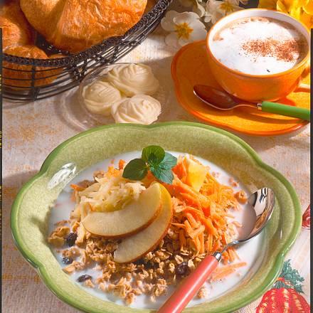 Knusper-Müsli mit Möhre und Apfel Rezept