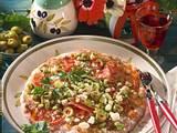 Knusper-Pizza mit Feta & Oliven Rezept
