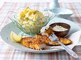 Knusperfisch mit Kartoffelsalat Rezept