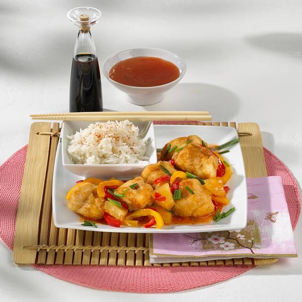 Knusperfisch süßsauer Rezept