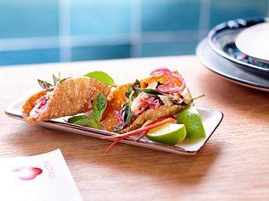 Knuspertacos mit vietnamesischem Hähnchensalat Rezept