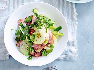 Knusprige Entenbrust auf Apfel-Chicorée-Salat Rezept