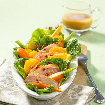 Knusprige Entenbrust auf Salat Rezept