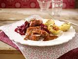 Knusprige Gänsebrust mit Sauerkirsch-Rotkohl Rezept