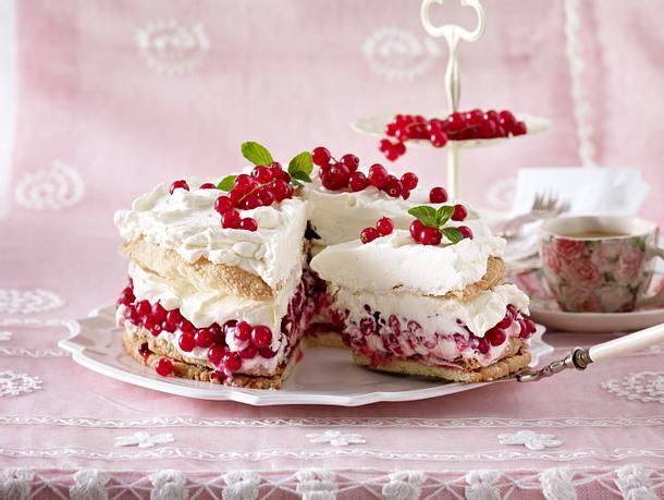 Knusprige Johannisbeer-Torte Rezept