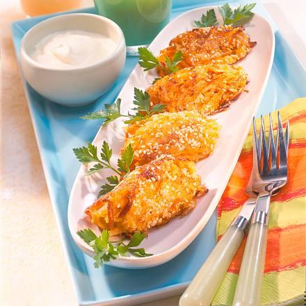 Knusprige Kartoffel-Möhren-Nocken Rezept