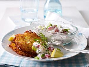 Knusprige Rösti, dazu frischen Matjessalat Rezept