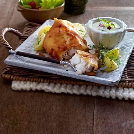 knuspriger backfisch mit remoulade rezept. Black Bedroom Furniture Sets. Home Design Ideas