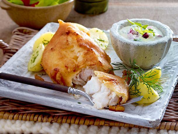 Knuspriger Backfisch mit Remoulade Rezept