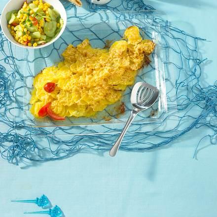 Knuspriger Kartoffel-Fisch Rezept
