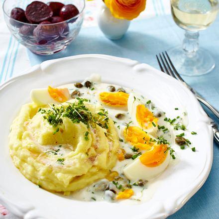 Königsberger Eier mit Kartoffelpüree Rezept