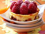 Köstlicher Pfefferkuchen mit Himbeeren Rezept