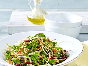 Kohlrabi-Apfel-Salat mit Cranberries Rezept