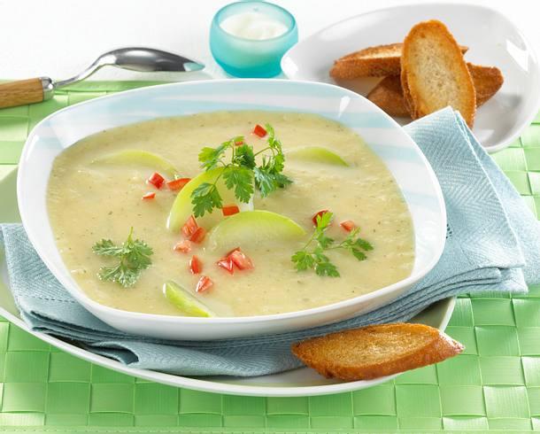 Kohlrabi-Cremesuppe Rezept