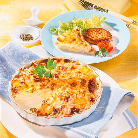 Kohlrabi-Kartoffel-Gratin zu Steaks Rezept