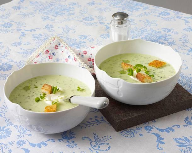 Kohlrabi-Kresse-Suppe Rezept