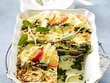 Kohlrabi-Lasagne mit Spinat und Tomaten Rezept