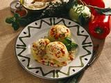 Kohlrabi mit Gemüse-Frischkäsefüllung Rezept
