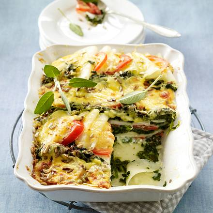 Kohlrabi-Spinat-Lasagne Rezept