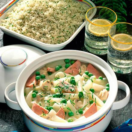 Kohlrabitopf mit Reis Rezept