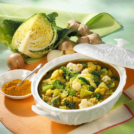 Kohlsuppe mit Curry Rezept