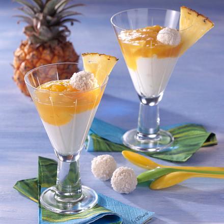 Kokos-Creme mit Ananas Rezept