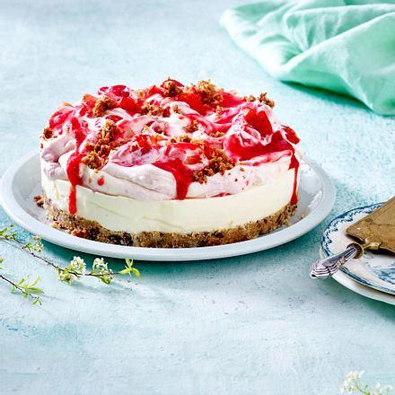Kokos-Erdbeer-Torte ohne Backen Rezept