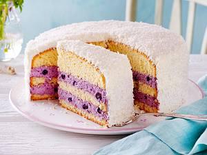 Kokos-Heidelbeer-Torte Rezept