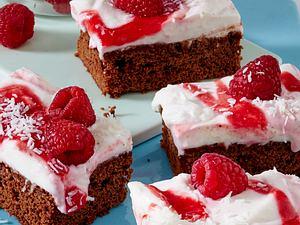Kokos-Himbeer-Kuchen Rezept