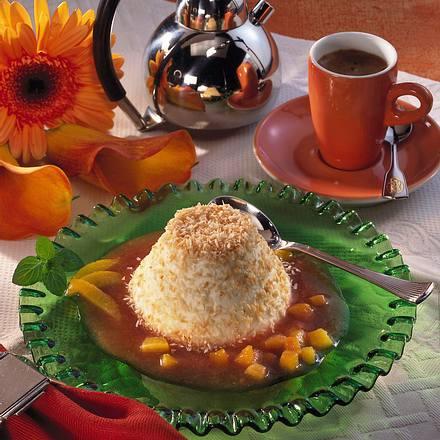 Kokos-Joghurt-Flan mit Aprikosen Rezept