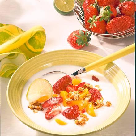 Kokos-Joghurt mit Früchten Rezept