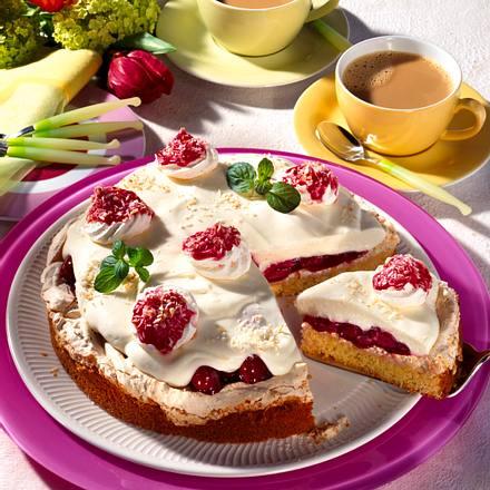 Kokos-Kirsch-Joghurt-Torte Rezept