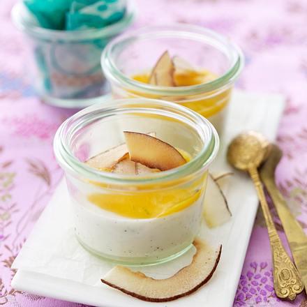 Kokos-Panna cotta mit Mango-Püree Rezept