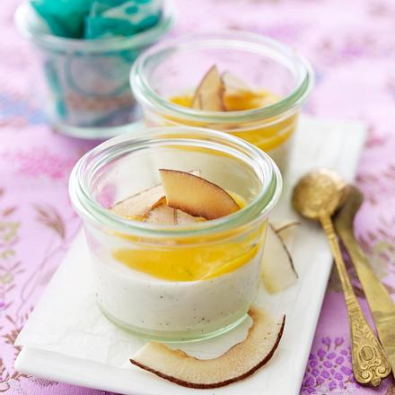 Kokos-Panna-Cotta mit Mangopüree Rezept