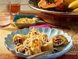 Kokos-Pfannkuchen mit Mango-Joghurt Rezept