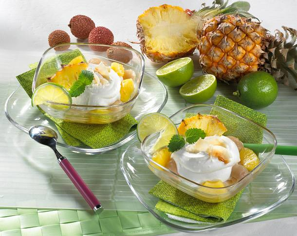 kokoscreme mit litschis und ananas rezept chefkoch rezepte auf kochen backen und. Black Bedroom Furniture Sets. Home Design Ideas