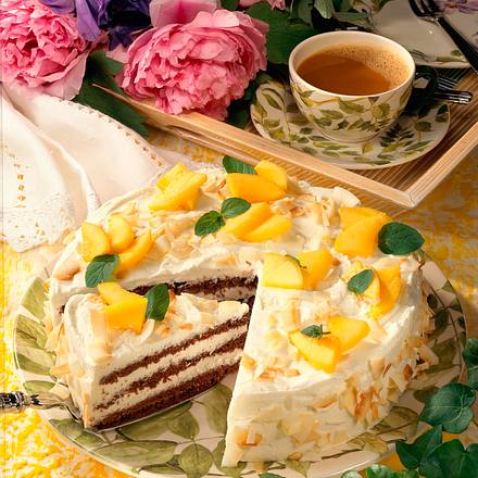 Kokoscreme-Torte Rezept