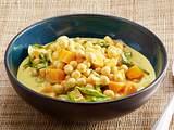 Kokos-Curry mit Kichererbsen, Möhre und Spinat Rezept