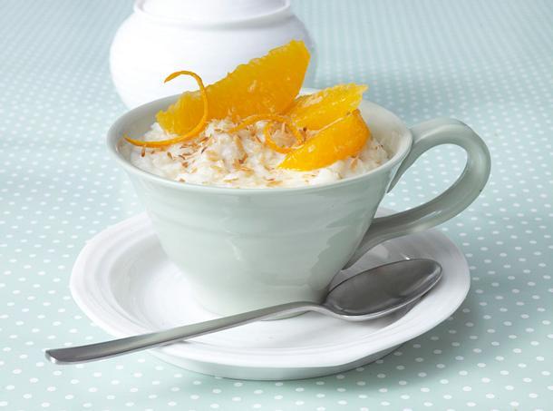 Kokosmilchreis mit Orangenfilets Rezept