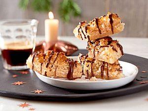 Kokosrauten mit Mürbeteig und Schokolade Rezept