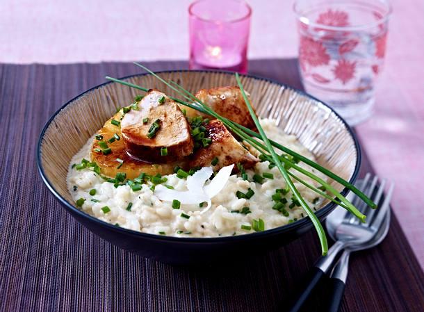 Kokosrisotto mit Hähnchenfilet und Ananas Rezept