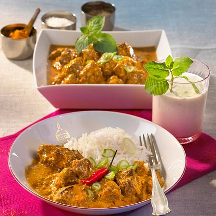 Kolhapuri Rassa (Lamm in heißer Kokosnuss-Sauce) Rezept