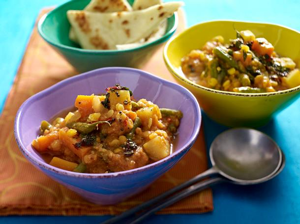 Kootu sambar (Gemüse mit Linsen) Rezept